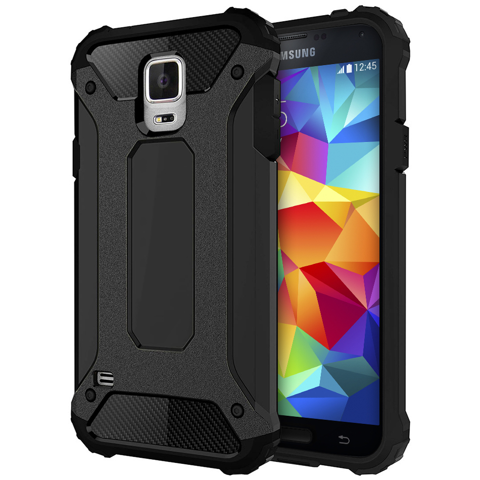 new product d0a9b 7a923 Military Defender Shockproof Case - Samsung Galaxy S5 (Black)
