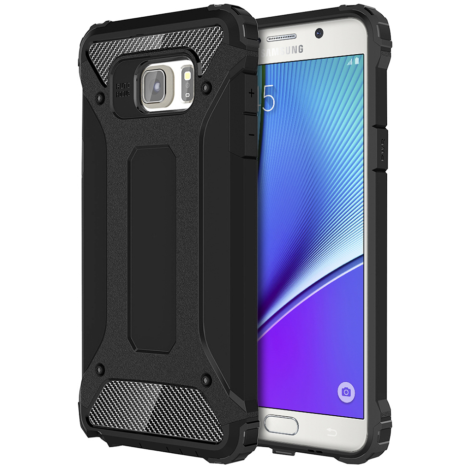 brand new 770e1 a046c Military Defender Shockproof Case - Samsung Galaxy Note 5 (Black)