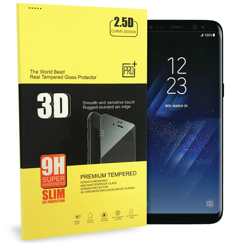 3D Tempered Glass Screen Protector for Samsung Galaxy S8+ (Black)