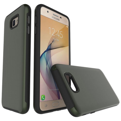 Dual Armour Tough Case for Samsung Galaxy J7 Prime - Brushed Green