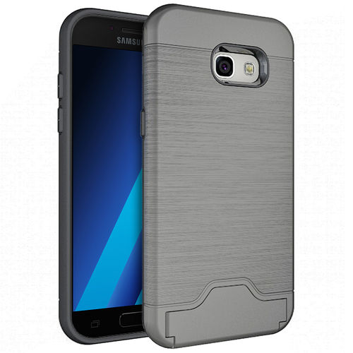 Dual Armour Tough Card Holder Case - Samsung Galaxy A5 (2017) - Grey