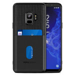 Totu Jazz Card Slot Tough Hard Case for Samsung Galaxy S9 - Black