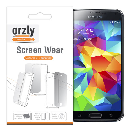 Orzly (10-Pack) Clear Film Screen Protector for Samsung Galaxy S5