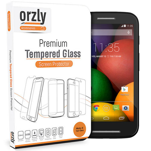 Orzly 9H Tempered Glass Screen Protector for Motorola Moto E (1st Gen)