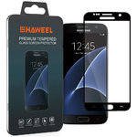 Full Fit Tempered Glass Screen Protector for Samsung Galaxy S7 - Black