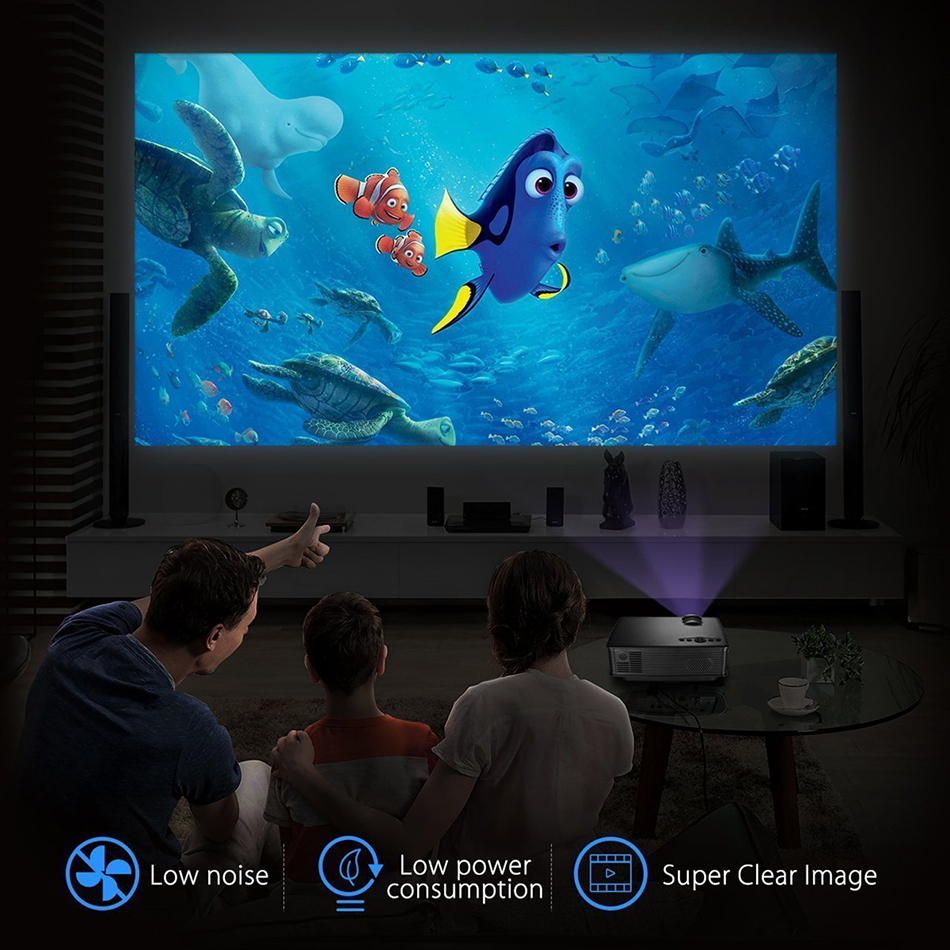 SD50+ HD Home Theatre Cinema & Portable LCD LED Projector