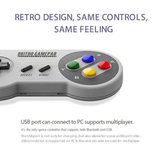 8Bitdo SFC30 SNES Wireless Bluetooth Game Controller