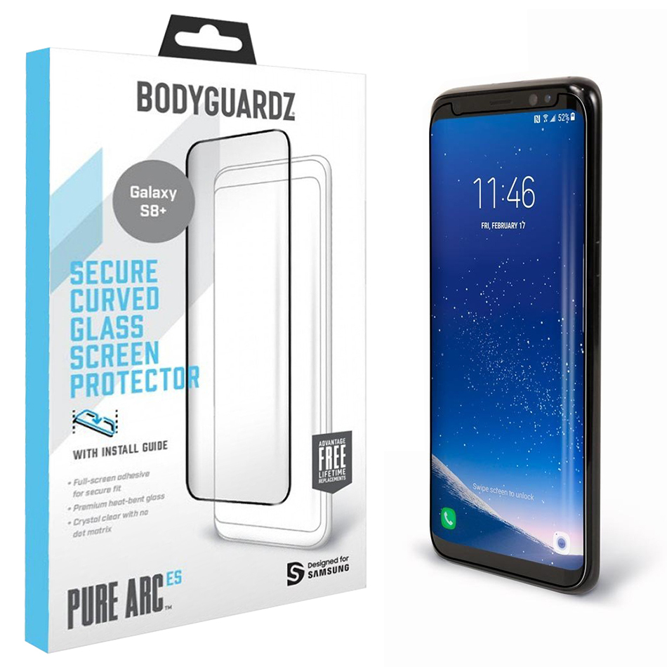 buy popular eb31c d2967 Pure Arc ES Tempered Glass Screen Protector - Samsung Galaxy S8+