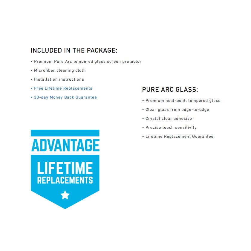 BodyGuardz Pure Arc Glass Screen Protector - Galaxy S8 Plus