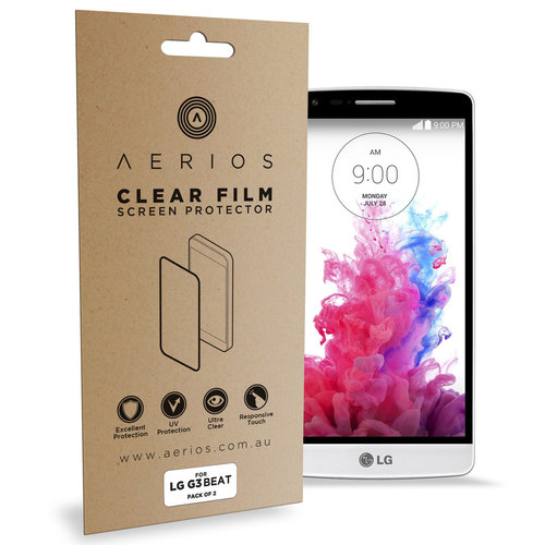 Aerios (2-Pack) Clear Film Screen Protector for LG G3 Beat