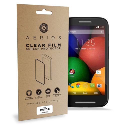 Aerios (4-Pack) Clear Film Screen Protector - Motorola Moto E 1st Gen