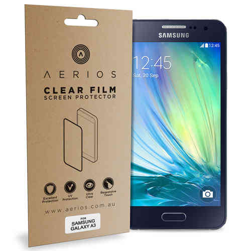 Aerios 2x Clear Film Screen Protector for Samsung Galaxy A3 (2015)