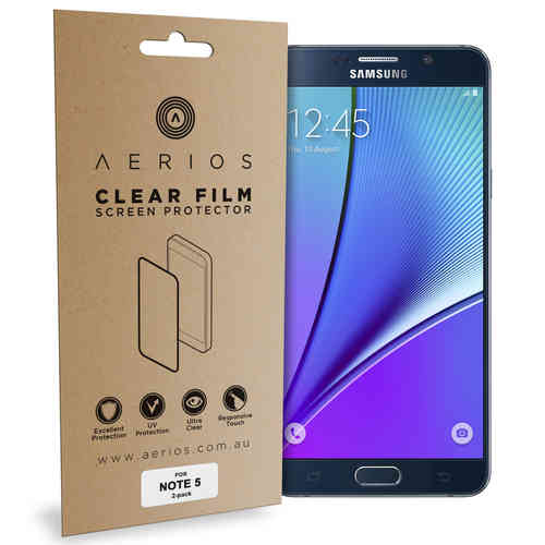 Aerios (2-Pack) Clear Film Screen Protector for Samsung Galaxy Note 5