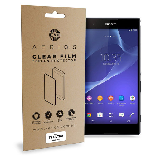 Aerios (2-Pack) Clear Film Screen Protector for Sony Xperia T2 Ultra