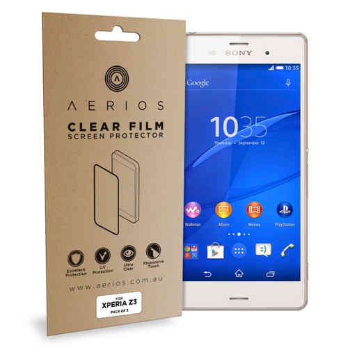 Aerios (2-Pack) Clear Film Screen Protector for Sony Xperia Z3