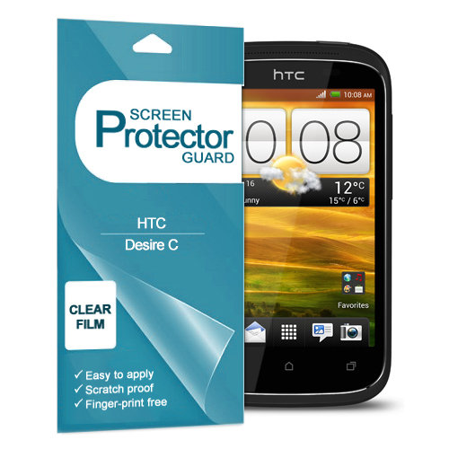 Clear Film Screen Protector Shield for HTC Desire C