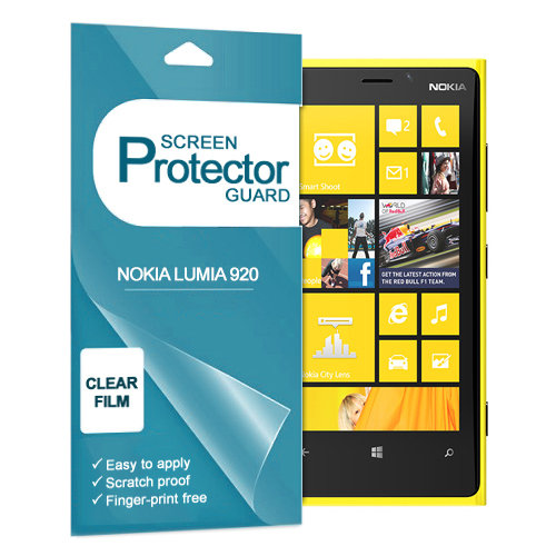 (5-Pack) Ultra Crystal Clear Screen Protector for Nokia Lumia 920