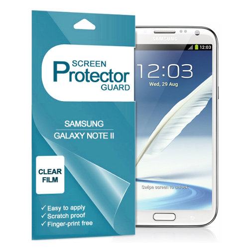 (2-Pack) Crystal Clear Screen Protector for Samsung Galaxy Note 2
