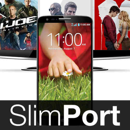 2m SlimPort Screen Mirror Cable (HDMI TV Adapter) for LG G2 - Black