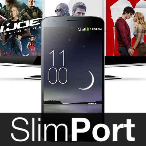 2m SlimPort Cable (HDMI TV Adapter) for LG G Flex - Black
