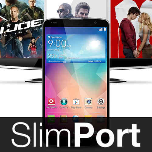 2m SlimPort Cable (HDMI TV Adapter) for LG G Pro 2 - Black