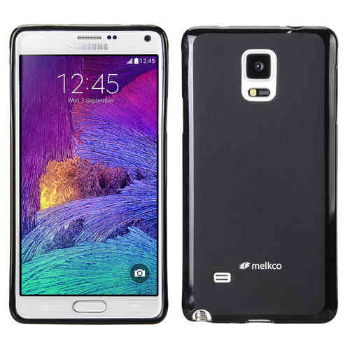Melkco Poly Jacket TPU Case for Samsung Galaxy Note 4 - Black