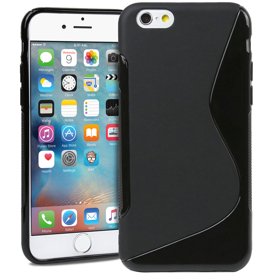 s line flexi case for apple iphone 6s black. Black Bedroom Furniture Sets. Home Design Ideas