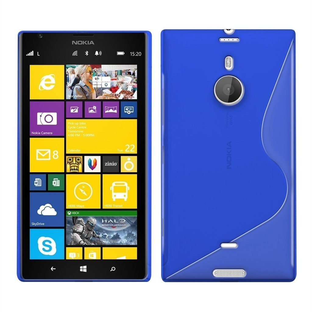 info for cdd61 fb12a S-Line Flexi Gel Case for Nokia Lumia 1520 - Blue (Two-Tone)