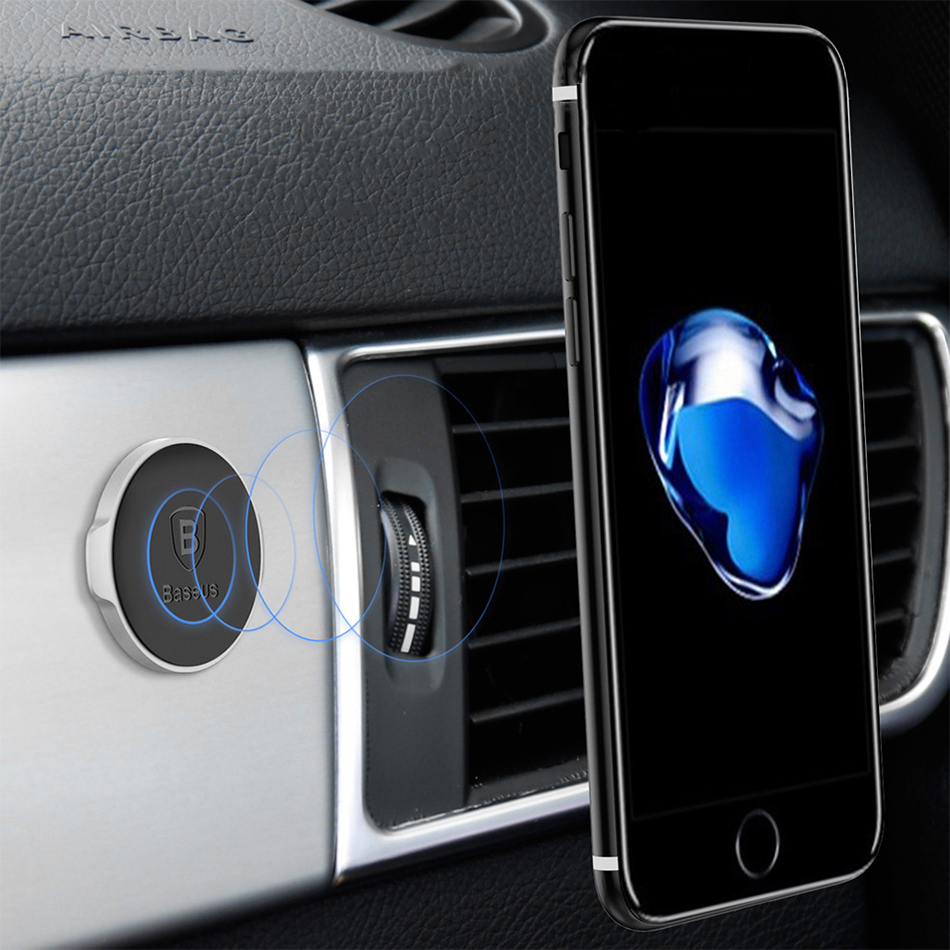 Baseus Small Ears Magnetic Car Mount Phone Holder (Silver)