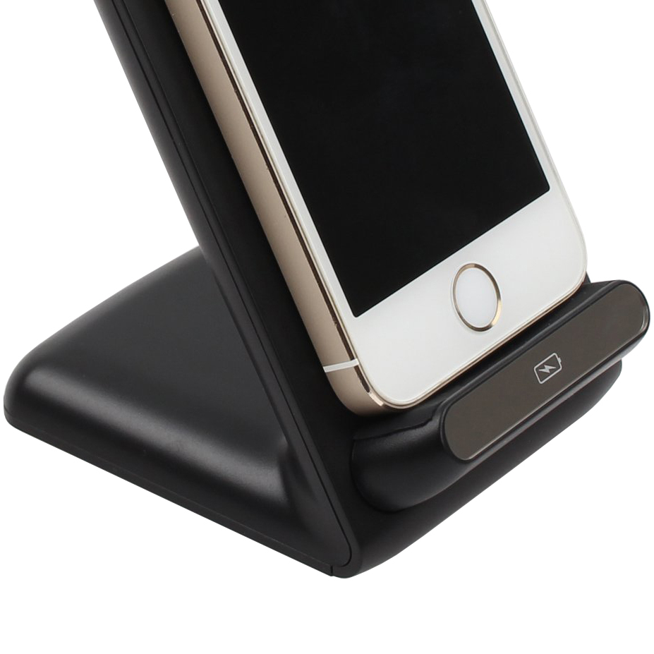 qi wireless charger dock stand triple coil for mobile phones. Black Bedroom Furniture Sets. Home Design Ideas