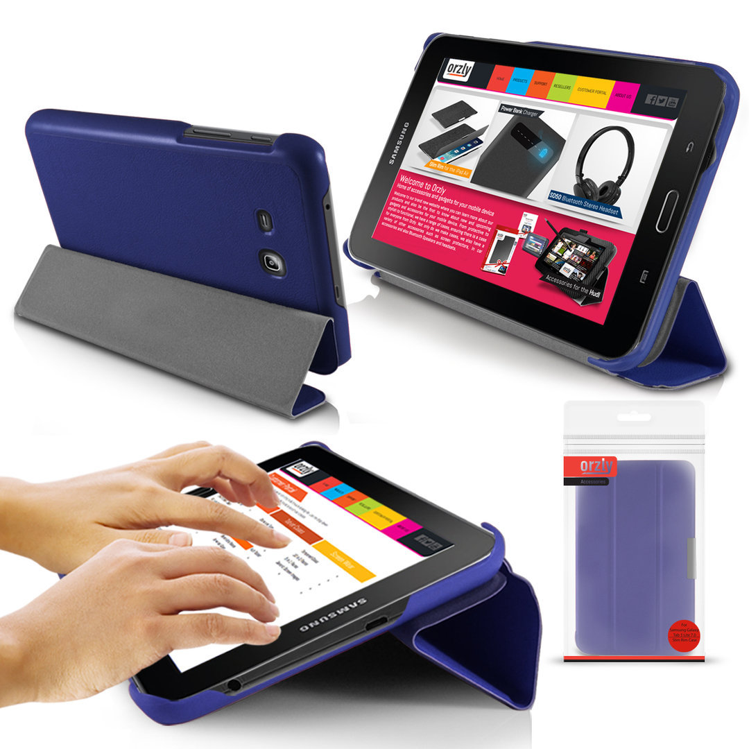 orzly slim rim case for samsung galaxy tab 3 lite 7 0 blue