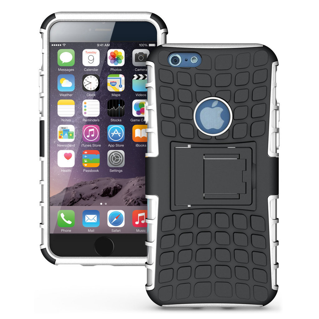 finest selection 5c8a5 7bb76 Tough Rugged Shockproof Case - Apple iPhone 6s Plus (White)