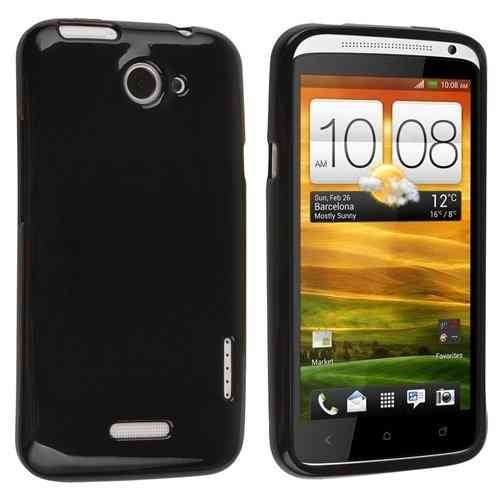 Flexi Gel Case for HTC One X / One XL - Black (Gloss)