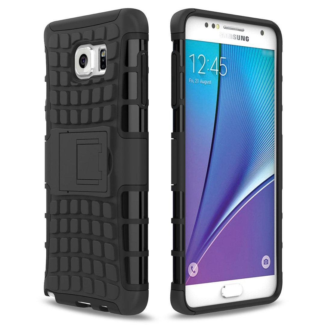 wholesale dealer 41b1c e354d Rugged Tough Shockproof Case - Samsung Galaxy Note 5 (Black)