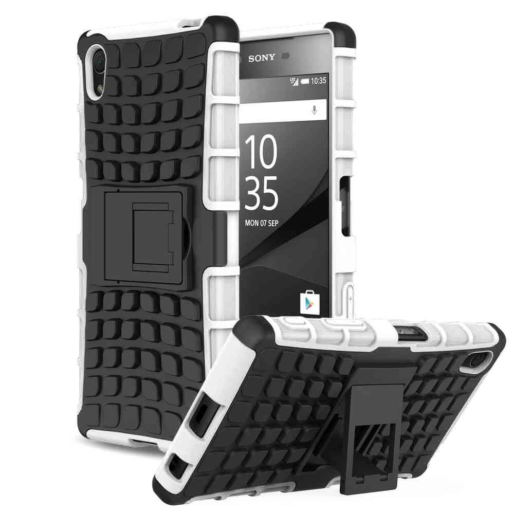 finest selection 12594 5a93b Rugged Tough Armour Case Stand - Sony Xperia Z5 (White)