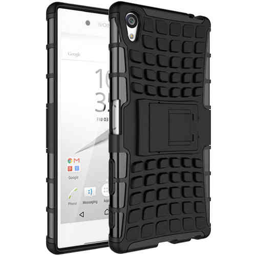 Dual Layer Tough Shockproof Case - Sony Xperia Z5 Premium - Black