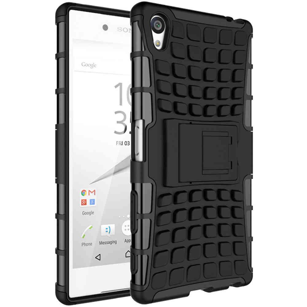 brand new 4b42f 407e3 Rugged Tough Shockproof Case - Sony Xperia Z5 Premium (Black)