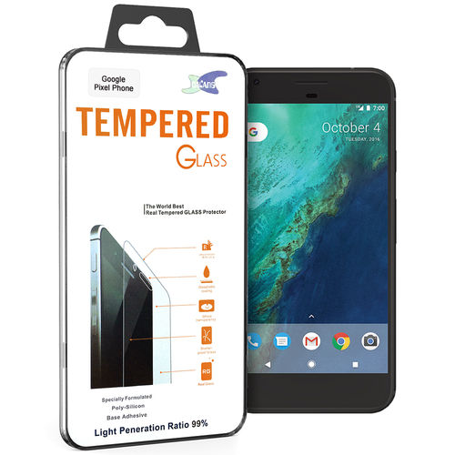 9H Tempered Glass Screen Protector for Google Pixel Phone - Clear