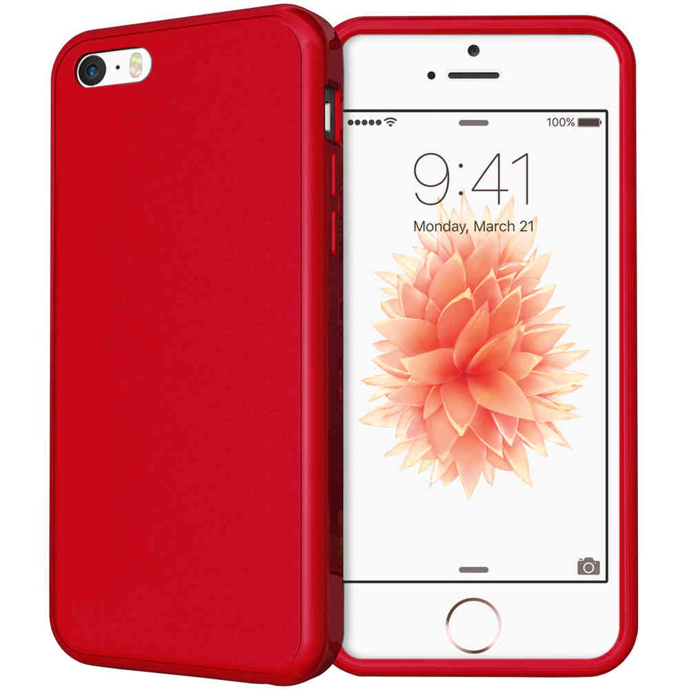 best sneakers 29e31 444c7 Flexi Gel Case for Apple iPhone SE / 5 / 5s / 5c - Red (Gloss)