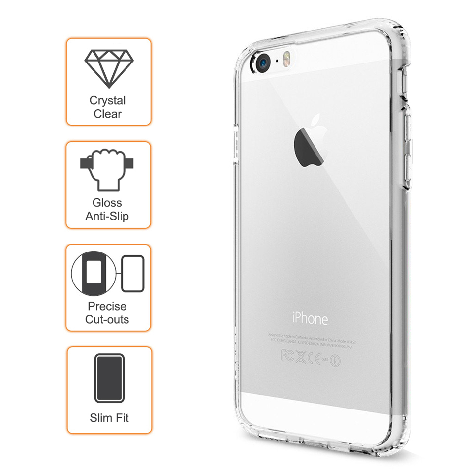 super popular f1b96 4abaa Flexi Gel Crystal Case for Apple iPhone 6 / 6s - Clear (Gloss Grip)