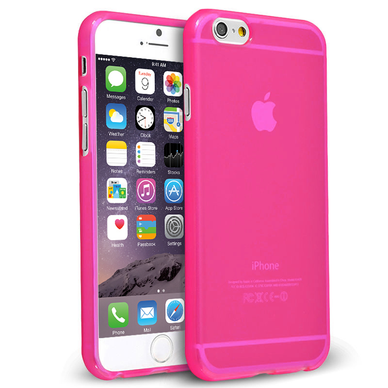 newest c5154 6326d Flexi Gel Case for Apple iPhone 6 / 6s - Smoke Pink (Gloss)