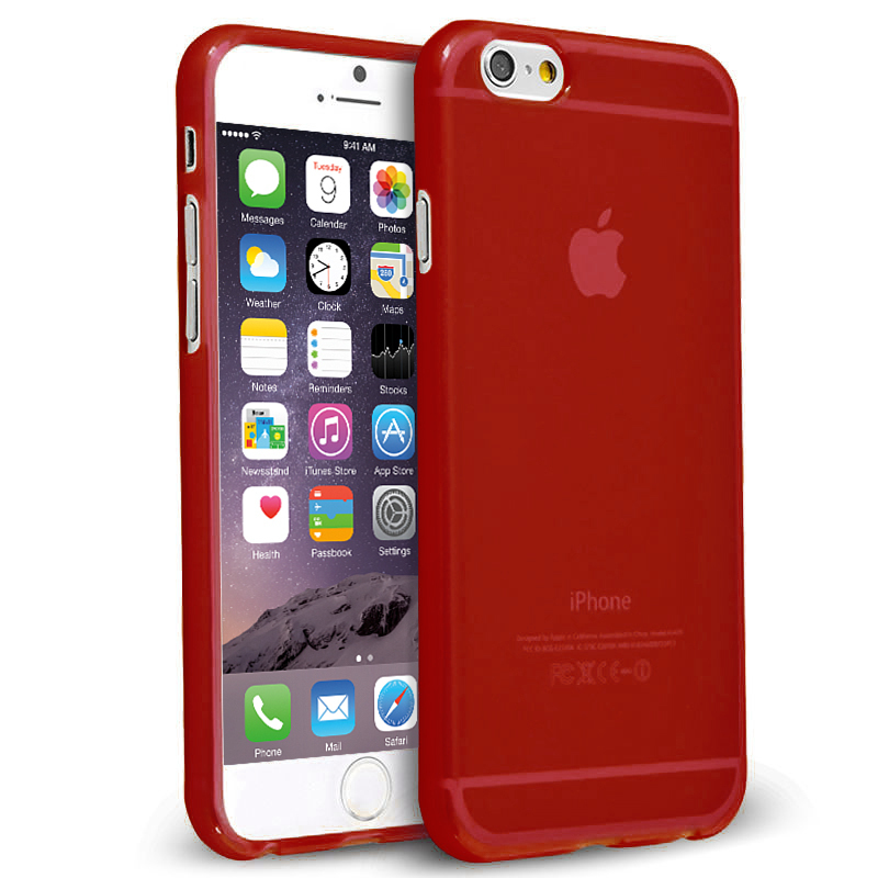 Flexi Case For Apple Iphone 6s Smoke Red