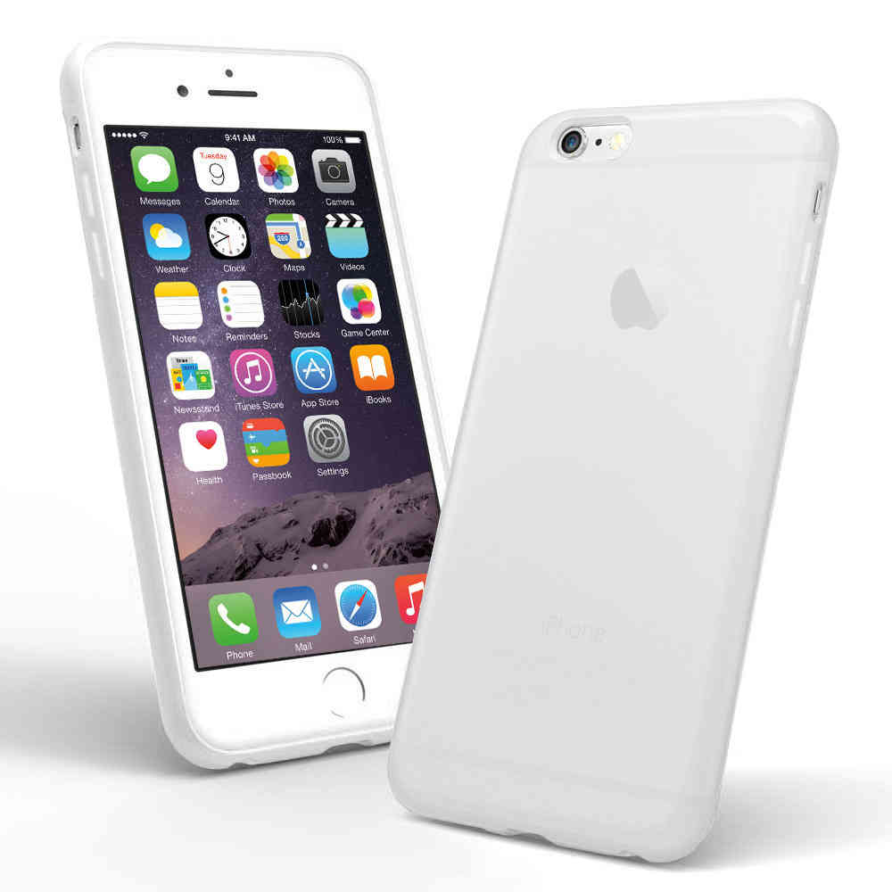 white silicone case for iphone 6 plus
