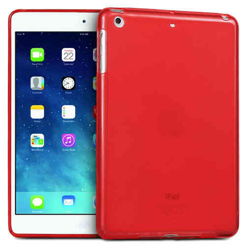 Flexi Gel Case for Apple iPad Mini 3 / 2 / 1 - Red (Two-Tone)