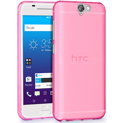 Flexi Case for Telstra Signature Premium / HTC One A9 - Smoke Pink