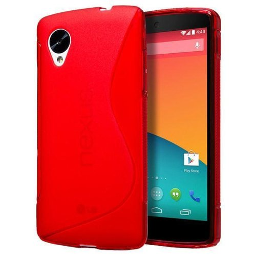 S-Line Flexi Gel Case for Google Nexus 5 - Red (Two-Tone)