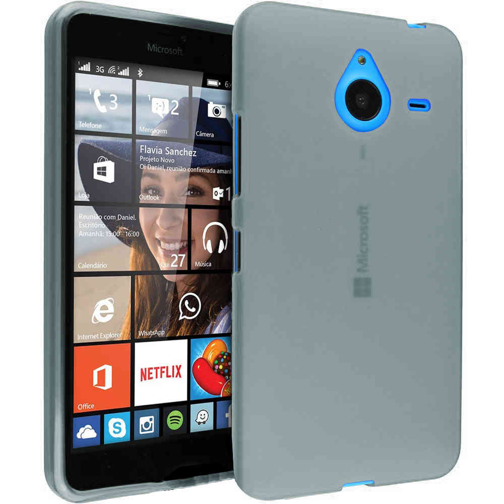 lowest price d5fd3 9d30b Flexi Gel Case for Microsoft Lumia 640 XL - Smoke White (Two-Tone)
