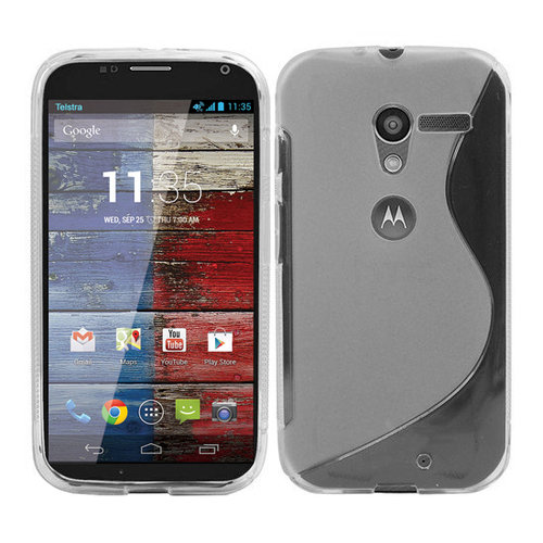 S-Line Flexi Case for Motorola Moto X 1st Gen - Clear Frost (Two-Tone)