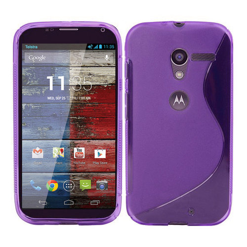S-Line Flexi Case for Motorola Moto X 1st Gen - Purple (Two-Tone)