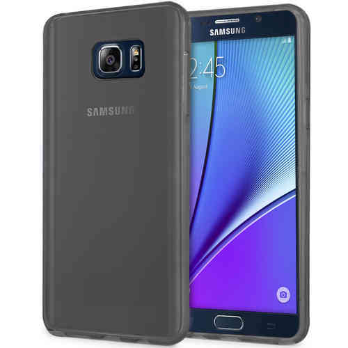 Flexi Gel Case for Samsung Galaxy Note 5 - Smoke Black (Two-Tone)
